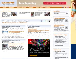 openpr.de ist eines der stärksten freien Presseportale im deutschsprachigen Raum.