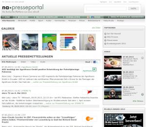 Presseportal.de bietet ein hochwertiges Umfeld für den Versand eigener Pressemitteilungen. Das Portal ist über den Service OTS erreichbar, ein Dienst von dpa-Tochter newsaktuell